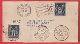 N°83 X2 ANNEXE EXPOSITION VINCENNES PARIS EXPOSITION UNIVERSELLE 1900 BANDE DE JOURNAL BUREAU POSTE RESTANTE - 1877-1920: Periodo Semi Moderno