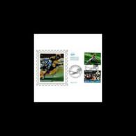CEF Soie - Coupe Du Monde De Rugby 2007 (env 1 Sur 5), Oblit 23/6/2007 Paris - 2000-2009