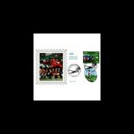 CEF Soie - Coupe Du Monde De Rugby 2007 (env 2 Sur 5), Oblit 23/6/2007 Paris - 2000-2009