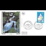 FDC Soie - Europa. L'eau, Richesse Naturelle - 8/5/2001 Saint Jean De Luz - 2000-2009