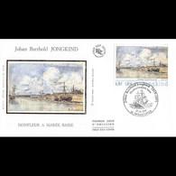 FDC Soie - Tableau Johan Barthold JONGKIND - 27/10/2001 Honfleur - 2000-2009