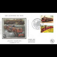 FDC Soie - Les Légendes Du Rail, Garratt 59 Et Pacific Chapelon - 6/7/2001 Paris - 2000-2009