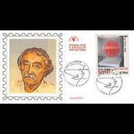 """CEF Soie - Tableau """"Sphère Concorde"""" De Jesus Rafael Soto - 11/11/2002 Paris - 2000-2009"""