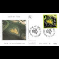 FDC Soie - J'aime Ma Terre - Coeur Yann Arthus Bertrand - 18/1/2002 Paris - 2000-2009