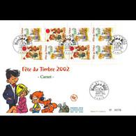 FDC GF JF - Carnet Fête Du Timbre 2002, Boule Et Bill, 16/3/02 Paris - 2000-2009
