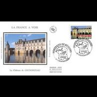FDC Soie - Château De Chenonceaux - 20/9/2003 - 2000-2009