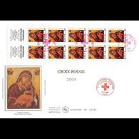 FDC GF Soie - Carnet Croix Rouge 2004, 10/11/04 Paris - 2000-2009