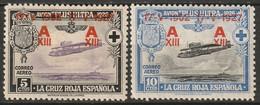 Spain 1927 Sc B55-6  MH* Some Disturbed Gum - Ungebraucht