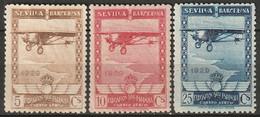 Spain 1929 Sc C6-8  Air Post MH* (C7 Creases/fold) - Unused Stamps