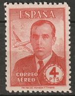 Spain 1945 Sc C120  Air Post MLH* - Ungebraucht