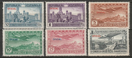 Spain 1931 Sc CO1-6  Air Post Official Set MH* - Unused Stamps