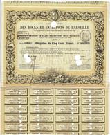 Titre Ancien - Compagnie Docks Et Entrepôts De Marseille - Obligation De 1860 - Déco - Navy