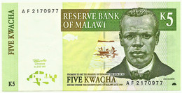 Malawi - 5 Kwacha - 1997 - Pick 36.a - Serie AF - Malawi