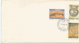 Brazil 1975: FDC - Archaeology, Fossil, Indigenous Pottery, Cave Painting. - Archéologie