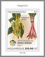 MOZAMBIQUE 2021 MNH Vegetables Gemüse Legumes S/S II - OFFICIAL ISSUE - DHQ2124 - Gemüse