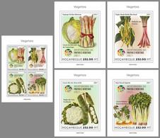 MOZAMBIQUE 2021 MNH Vegetables Gemüse Legumes 1M/S+4S/S - OFFICIAL ISSUE - DHQ2124 - Gemüse