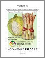 MOZAMBIQUE 2021 MNH Vegetables Gemüse Legumes S/S I - IMPERFORATED - DHQ2124 - Gemüse