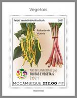 MOZAMBIQUE 2021 MNH Vegetables Gemüse Legumes S/S II - IMPERFORATED - DHQ2124 - Gemüse