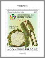 MOZAMBIQUE 2021 MNH Vegetables Gemüse Legumes S/S III - IMPERFORATED - DHQ2124 - Gemüse