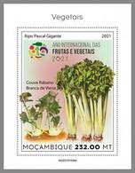 MOZAMBIQUE 2021 MNH Vegetables Gemüse Legumes S/S IV - IMPERFORATED - DHQ2124 - Gemüse