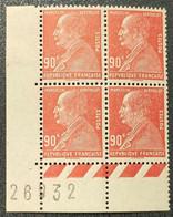 N° 243 Neuf ** Gomme D'Origine En Bloc De 4  TB - Unused Stamps