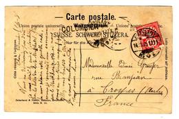 48125 - Cachet De Gare Du COLOMBIER - Covers & Documents
