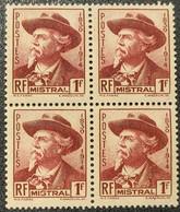 N° 495 Neuf ** Gomme D'Origine En Bloc De 4  TB - Unused Stamps