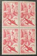 Poste Aérienne N° 17 Neuf ** Gomme D'Origine En Bloc De 4  TB - 1927-1959 Nuevos