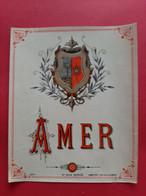 ETIQUETTE ANCIENNE PARIS N° 544 DEPOSE HABERER DOUIN & JOUNEAU / AMER / DOS SCANNE - Ohne Zuordnung