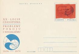Poland Postcard Cp 706: Press Problems Of Peace And Socialism Lenin Marx Engels - Enteros Postales