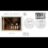 FDC Soie - L'Abbaye De Noirlac - 2/7/1983 Bruère-Allichamps - 1980-1989