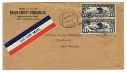 San Francisco 1928, Michel-Nr. Paar 306 A O - Nach Vineland, New Jersey - 1921-40