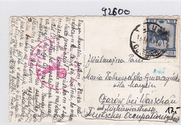 GG: Ansichtskarte Aus Rumänien Nach Opatow, Zensur - Bezetting 1938-45