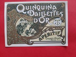 ETIQUETTE ANCIENNE PM  108 Mm X 77 Mm / QUINQUINA AUX PAILLETTES D' OR . APERITIF CAZALIS & PRATS SETE  / DOS SCANNE - Ohne Zuordnung