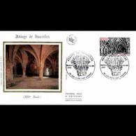 FDC Soie - L'Abbaye De Vaucelles - 19/9/1981 Les Rues Des Vignes - 1980-1989