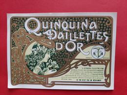 ETIQUETTE ANCIENNE GM  128 Mm X 92 Mm / QUINQUINA PAILLETTES D' OR . MARQUE DEPOSEE C& P SETE ( Hérault )   / DOS SCANNE - Ohne Zuordnung