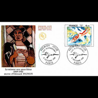 FDC JF - Tableau - Edouard Pignon :  Les Plongeurs - 3/10/1981 Paris - 1980-1989