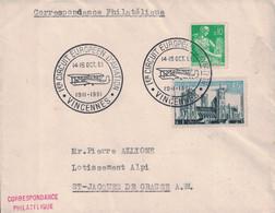 VAL DE MARNE - VINCENNES - CACHET ILLUSTRE - 1er CIRCUIT EUROPEEN D'AVIATION  - 14-15 OCTOBRE 1961. - Luchtpost