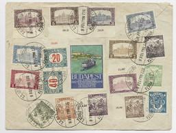 MAGYAR HONGRIE DIVERS LETTRE COVER AVION BUDAPEST VIGNETTE LEGI POSTA 1922 TO FRANCE - Covers & Documents