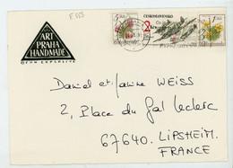TCHECOSLOVAQUIE : TIMBRE SUR LETTRE POUR LA FRANCE - N° Yvert ?  Obli. 24/5/93 - Brieven En Documenten