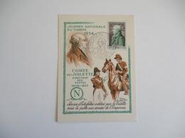 1954 Vieux Charmont Cm Carte Maximum  Comte De La Valette - 1950-59
