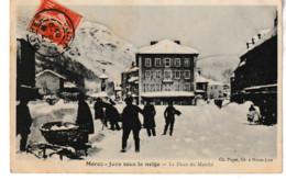 Jura MOREZ Sous La Neige La Place Du Marché (animation) 1907 - Morez