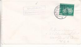 Allemagne - République Fédérale - Lettre De 1961 - Oblit Bad Neustadt - Voiture - Cachet De Wollbach - Brieven En Documenten