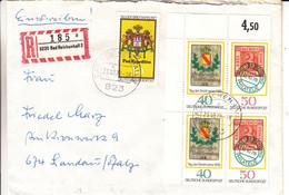 Allemagne - République Fédérale - Lettre Recom De 1978 - Oblit Bad Reichenhall - Armoiries - Timbres Sur Timbres - - Brieven En Documenten