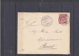 SVIZZERA  1893 - Letterina Da St. Gallen A Basel - Covers & Documents