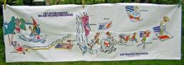Affiche Ancienne Air France Banderolle En Tissu Pub Publicitaire Publicité Rare Collection 1,8mX 0,6m Avion Aéronautique - Plaques émaillées (après 1960)