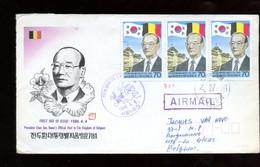 1986 FDC To Belgium - Corea Del Sud