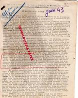 87- LIMOGES- GUERRE 1939-1945- MUR - RESISTANCE-  ARCHIVE GASTON HILAIRE ALIAS LEONIE-JUIN 1943-COMBAT-LIBERATION - War 1939-45