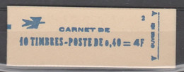 FRANCE CARNET FERME DATE ET RE ARISTO 10 TIMBRES CHEFFER 0,40 ROUGE 1536B C1 -17/6/70 - Freimarke