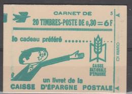 FRANCE CARNET FERME DATE  20 TIMBRES CHEFFER 0,30 VERT 1536A C1 -16/4/69 - Freimarke